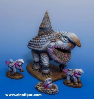 Landhai mit 3 Jungen (Resin & Metall Kit)