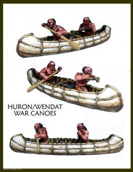Huronen/Wendat Kriegskanus