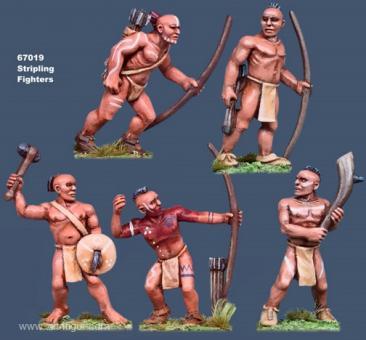 Junge nackte Irokesen-Krieger
