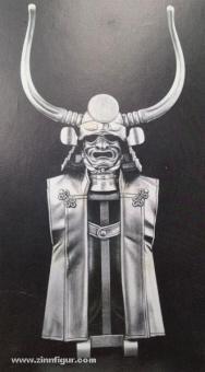 Ständer mit Helm, Maske und Rüstung