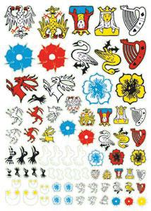 French Heraldry Transfers 1