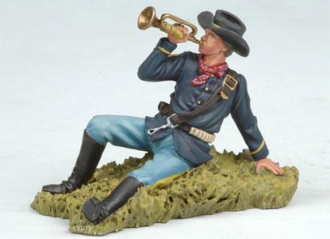 US Bugler Laying on the Ground