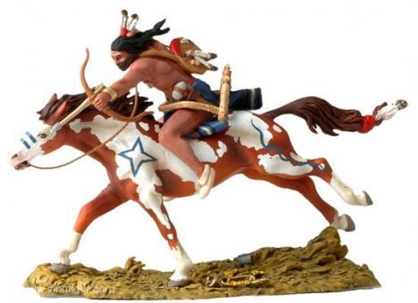 Gallopping Cheyenne shooting arrow