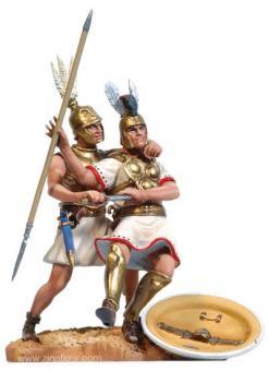 Römischer Infanterist und Samnitischer Infanterist im Kampf