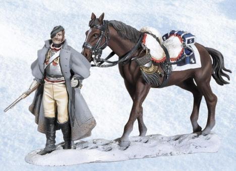 Kürassier mit Pferd