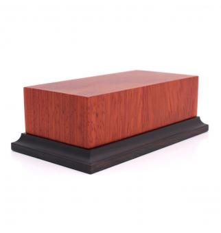 Holzsockel mit Fuß (Padouk)