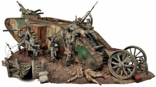 Panzerkampf an der Westfront 1916