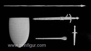 Mittelalterliche Waffen für 90 mm Figuren