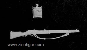 Martini Henry Gewehr und Wasserflasche