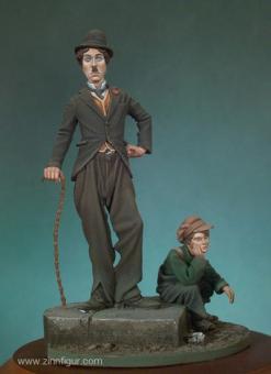 Der Tramp (Charlie Chaplin) mit dem Jungen