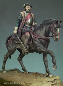 Hernan Cortes zu Pferd