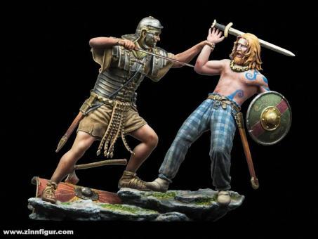Legionär im Kampf mit Keltischem Krieger - 80 n.Chr.