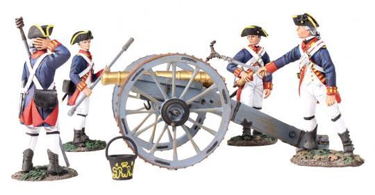 6-Pfund Geschütz mit 4 Artilleristen - Royal Artillery