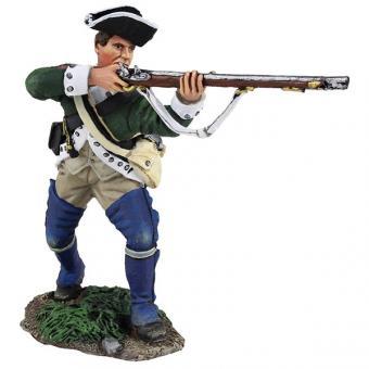 Loyalist Butler's Ranger - vorgehend, feuernd