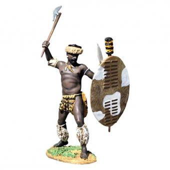 Zulu Attacking with Axe