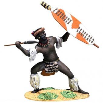 Zulu Defending with Spear uDloko Regiment