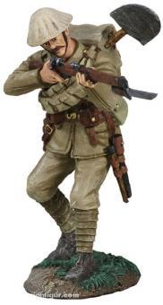 Britischer Infanterist, feuernd
