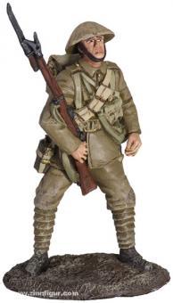 Britischer Infanterist, auf Angriff wartend
