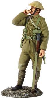 Britischer Infanterist, rauchend