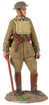 Britischer Infanterie-Offizier mit Spazierstock