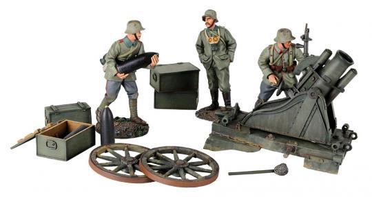 170 cm Minenwerfer mit 3 Infanteristen