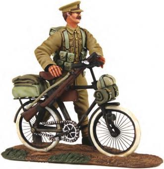 Britischer Infanterist mit Fahrrad - 1914