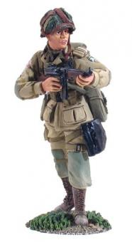 Paratrooper firing Thompson SMG