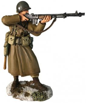 US 101st Airborne with BAR in Greatcoat - Winter 1944-45