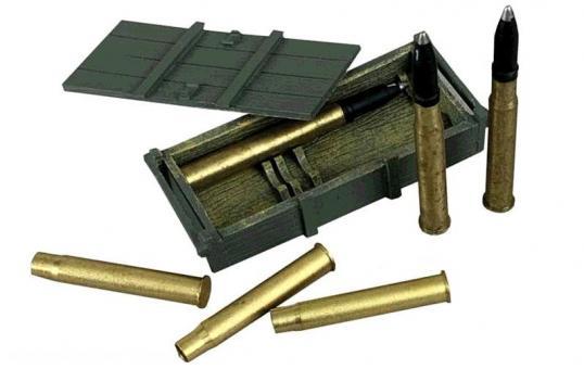German 88mm DP Gun Crate and Armor Piercing Shells - 8 Piece Set