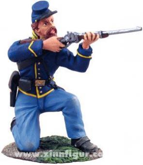 Cavalryman, kneeling, firing