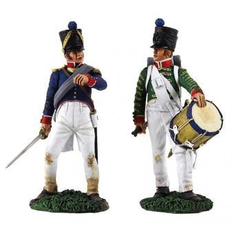 French Line Infantry Officer & Drummer