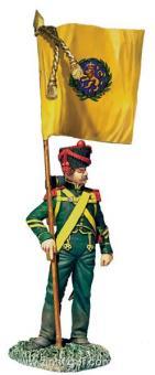 Nassau Grenadier with Regimental Colour - 1815