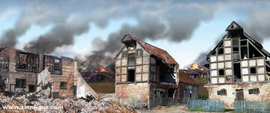 20th Century European Warscape  Backdrop