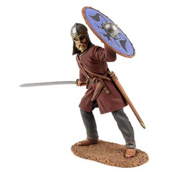 Wikinger mit Gjerdmundbu-Helm - Schwert schwingend