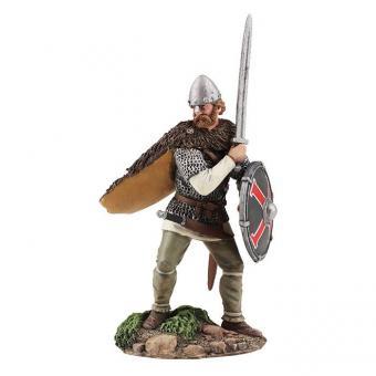 Angelsächsischer Krieger - sich verteidigend