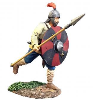 Osgar - Angelsächsischer Krieger mit Speer, rennend