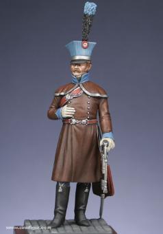 Offizier im Mantel, 2. Husaren