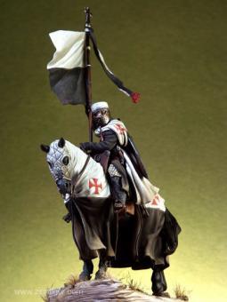 Tempelritter zu Pferd mit Beaucant