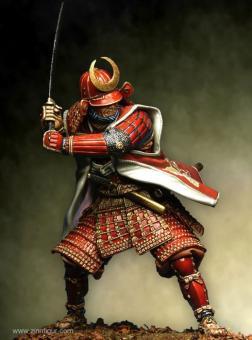 Samurai in voller Rüstung, im Duell