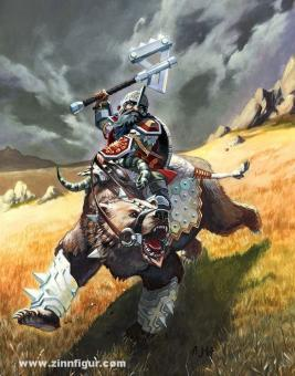Thirag Beastbasher (Zwerg auf Kampfbär)