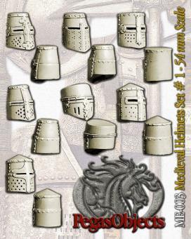 Mittelalterliche Helme 1 (7 Teile)