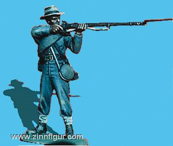 CSA Infanterist, schießend