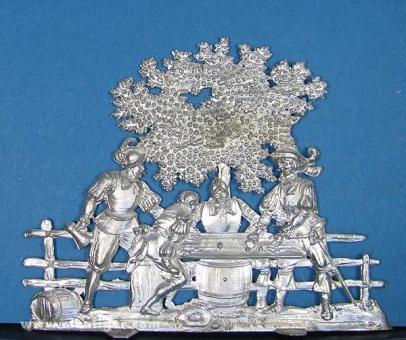 Spenkuch: Gruppe: Würfelspieler unter Baum, 1480 bis 1530