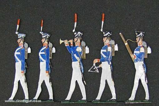 Schweizer, B.: Preußische Garde-Infanterie, Musik im Marsch, 1815 bis 1850