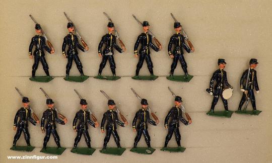 Diverse Hersteller: Infanterie im Marsch, 1871 bis 1918