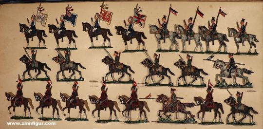 Verschiedene Hersteller: Kavallerie Europas, 1871 bis 1918