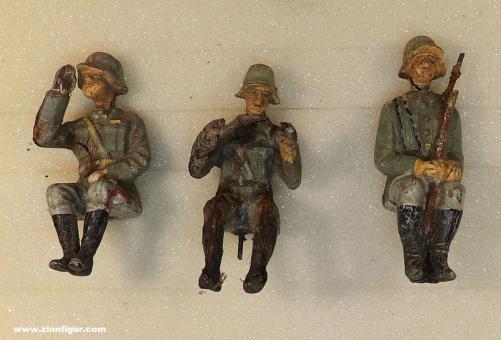 Elastolin: Sitzende Soldaten für Fahrzeuge, 1933 bis 1945