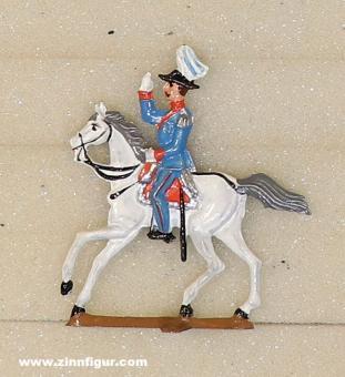 Schweizer, B.: General zu Pferd grüßend, 1888 bis 1912