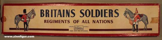 Britain: Deckel für Leerkarton Regiments of all Nations, 1900 bis 2019