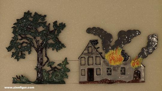 Schweizer, B.: Brennendes Haus und Baum, ab 1400